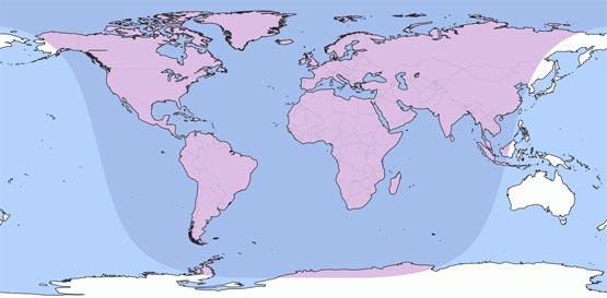 Карта видимости затмения 11.02.2017