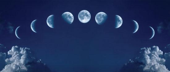 Фазы Луны и лунный месяц