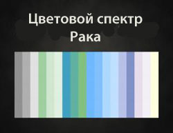 Цветовой спектр Рака
